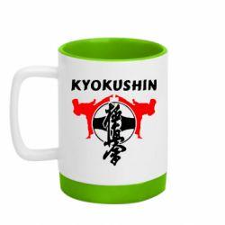 Кружка кольорова з силіконовим дном 320ml Kyokushin