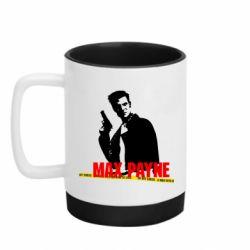 Кружка кольорова з силіконовим дном 320ml Max Payne