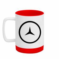 Кружка кольорова з силіконовим дном 320ml Mercedes new logo