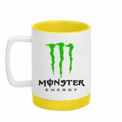 Кружка кольорова з силіконовим дном 320ml Monster Energy Classic