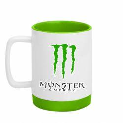 Кружка кольорова з силіконовим дном 320ml Monster Energy Logo