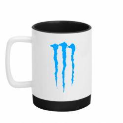 Кружка кольорова з силіконовим дном 320ml Monster Energy Stripes 2