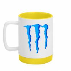 Кружка кольорова з силіконовим дном 320ml Monster Stripes