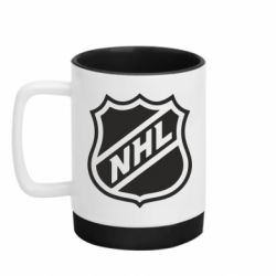 Кружка кольорова з силіконовим дном 320ml NHL