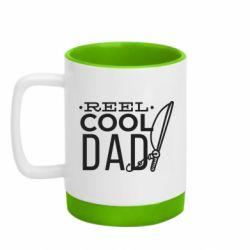 Кружка кольорова з силіконовим дном 320ml Reel cool dad
