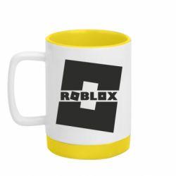 Кружка кольорова з силіконовим дном 320ml Roblox game