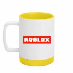 Кружка кольорова з силіконовим дном 320ml Roblox suprem