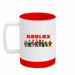 Кружка кольорова з силіконовим дном 320ml Roblox team
