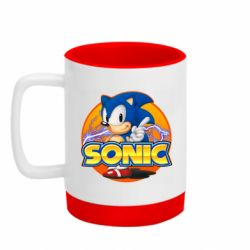 Кружка кольорова з силіконовим дном 320ml Sonic lightning