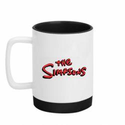 Кружка кольорова з силіконовим дном 320ml The Simpson Logo