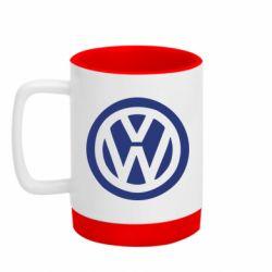 Кружка кольорова з силіконовим дном 320ml Volkswagen