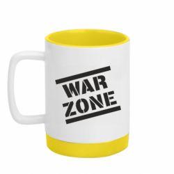 Кружка кольорова з силіконовим дном 320ml War Zone