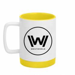 Кружка кольорова з силіконовим дном 320ml Wild West World logo