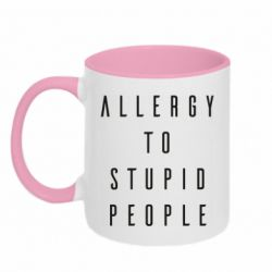 Кружка двоколірна 320ml Allergy To Stupid People
