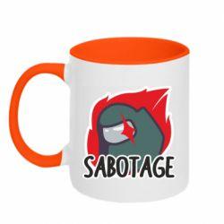 Кружка двоколірна 320ml Among Us Sabotage
