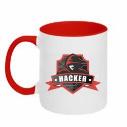 Кружка двоколірна 320ml Anonymous Hacker