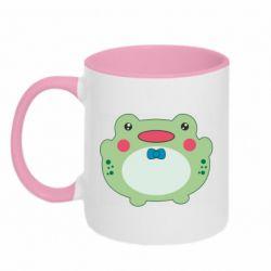 Кружка двоколірна 320ml Baby frog