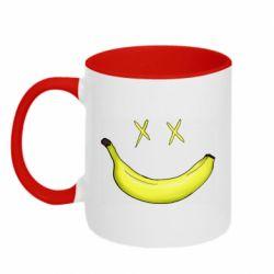 Кружка двухцветная 320ml Banana smile