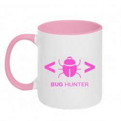 Кружка двоколірна 320ml Bug Hunter