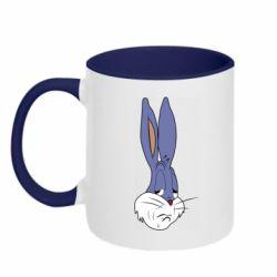 Кружка двоколірна 320ml Bugs Bunny Meme Face