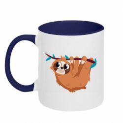 Кружка двоколірна 320ml Cute sloth