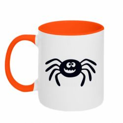 Кружка двухцветная 320ml Cute spider with mustache