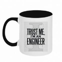 Кружка двоколірна 320ml Довірся мені я інженер