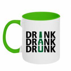 Кружка двухцветная 320ml Drink Drank Drunk