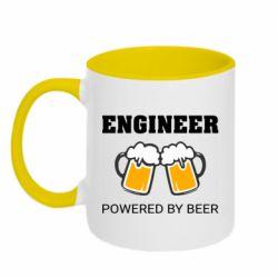 Кружка двоколірна 320ml Engineer Powered By Beer