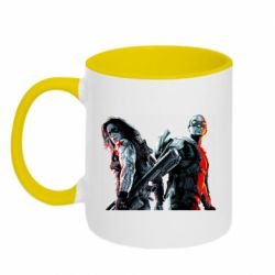 Кружка двоколірна 320ml Falcon and Winter Soldier
