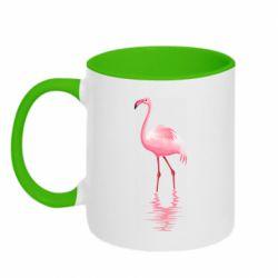 Кружка двоколірна 320ml Фламинго
