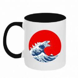 Кружка двоколірна 320ml Godzilla Wave