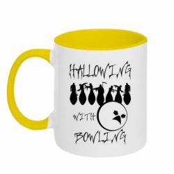 Кружка двоколірна 320ml Hallowing with Bowling