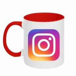 Кружка двоколірна 320ml Instagram Logo Gradient