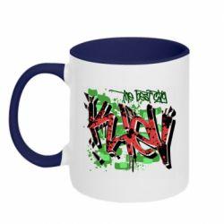Кружка двухцветная 320ml Kiev graffiti