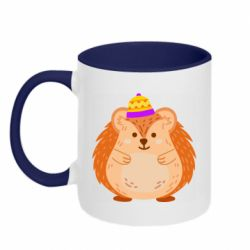 Кружка двоколірна 320ml Little hedgehog in a hat