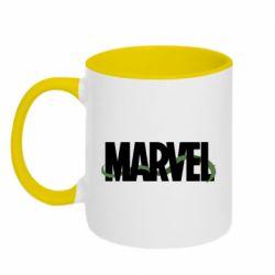 Кружка двухцветная 320ml Marvel logo and vine