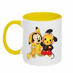 Кружка двухцветная 320ml Mickey and Pikachu
