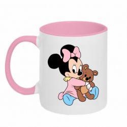Кружка двоколірна 320ml Minnie And Bear