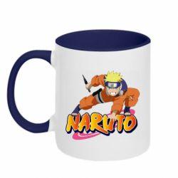 Кружка двоколірна 320ml Naruto with logo