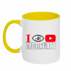 Кружка двоколірна 320ml I Watch NEOdekWATT