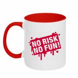 Кружка двоколірна 320ml No Risk No Fun
