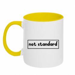 Кружка двоколірна 320ml Not standard
