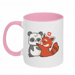 Кружка двоколірна 320ml Panda and fire panda