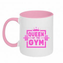Кружка двоколірна 320ml Queen Of The Gym