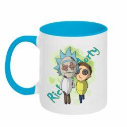 Кружка двоколірна 320ml Rick and Morty voodoo doll