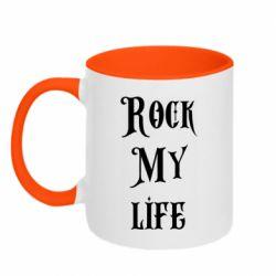 Кружка двухцветная 320ml Rock my life