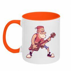 Кружка двоколірна 320ml Rock'n'roll Santa