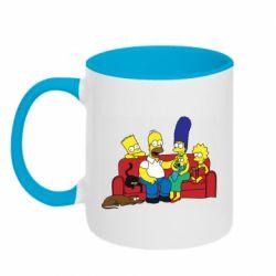 Кружка двухцветная 320ml Simpsons At Home