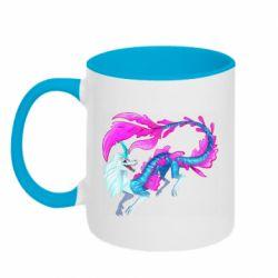 Кружка двоколірна 320ml Sisu Water Dragon